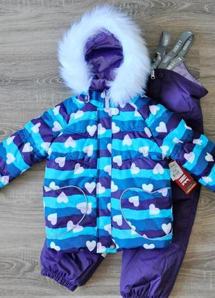 Зимний комплект для девочки lenne 104