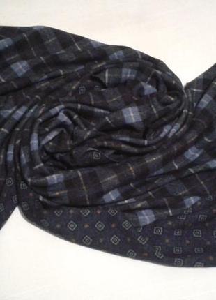 Тканый двусторонний шарф теплый шерстяной шаль шалик накидка