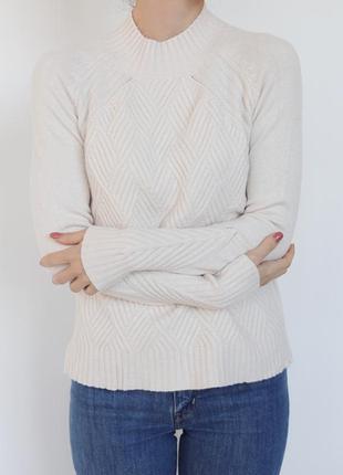 Вязаный теплый свитер под горло