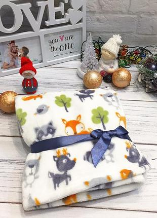 Детский плед пледик одеяло для новорождённых ковдра