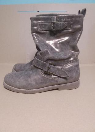 Демисезонные шикарные полусапожки/ботинки с золотистым напылением