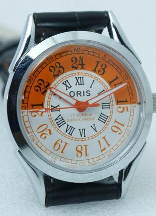 Мужские механические винтажные часы oris швейцарские dk 80s 38 мм