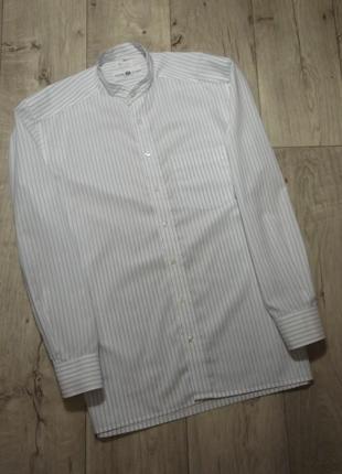 Мужская рубашка в полоску, воротник-стойка, royal class, германия, р.40/l