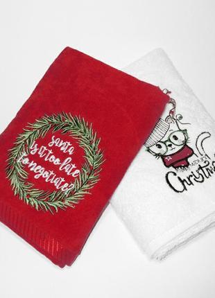 Кухонні рушники, рушник, новорічний подарунок, полотенца полотенце