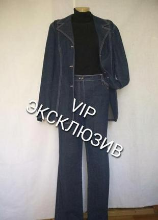 Escada эксклюзив винтажный джинсовый костюм