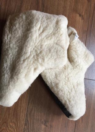 Домашні черевички з овчини дуже теплі