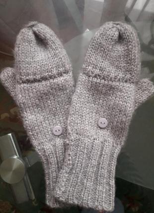 Перчатки-мітенки new look