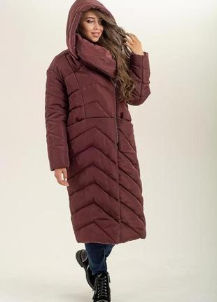 Пальто куртка зимняя с асимметрией, от производителя!