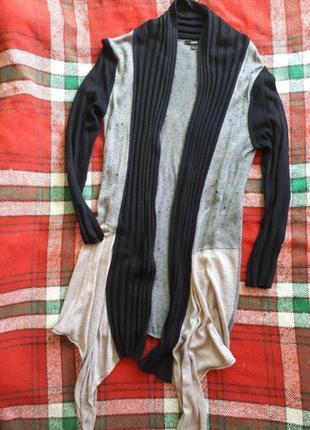 Оригінальний теплий кардиган шерсть