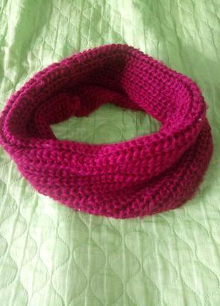 Вязанный шарф-снуд хомут
