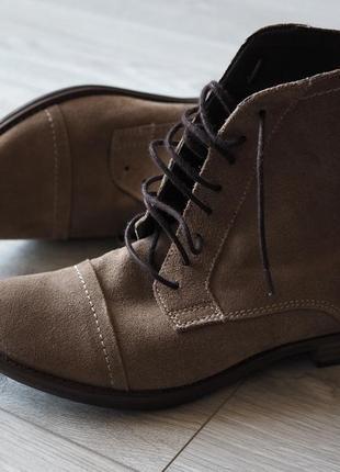 Замшевые демисезонные ботинки на низком ходу catwalk