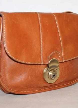 Кожаная сумка кроссбоди от clarks 100% натуральная кожа