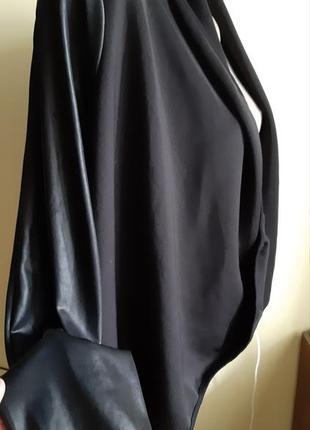 Піджак накидка с кожаними рукавами