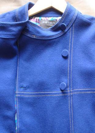 Яркое пальто кейп электрик #обновление гардероба
