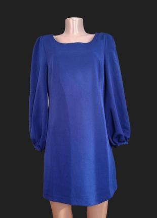 Платье благородного синего цвета ,пойдет на любое мироприятие и на повседневный)