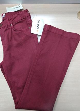 Джинсы, брюки, женские, плотные, клеш, zalando, размер 44