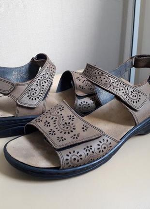 41 р. rieker кожаные удобные босоножки сандалии