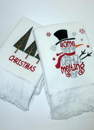 Кухонні рушники, рушнички, рушник, новорічні подарунки, полотенца
