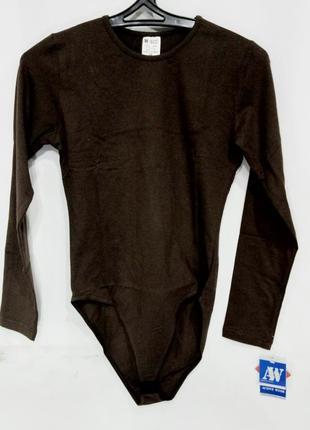 Боди active wear женский хлопок коричневый размер 38