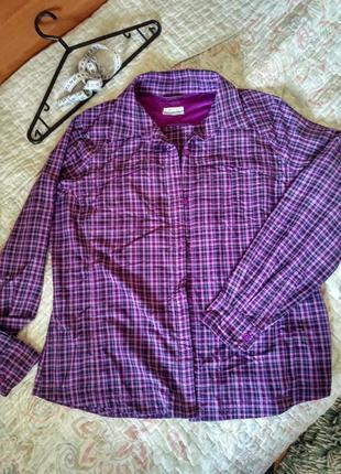 Рубашка водоотталкивающая ткань походы - актив columbia