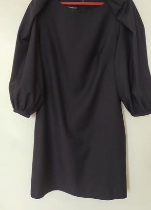 Платье рукава фонарики с карманами