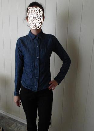 Джинсовая рубашка с удлинением levis