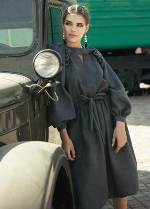 Шикарнейшее шерстяное платье дизайнерское anna yakovenko