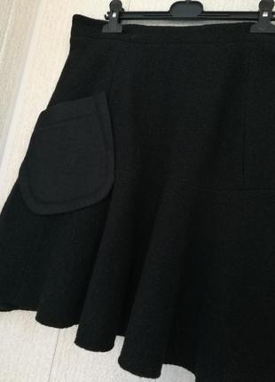 Дизайнерская шерстяная юбка carven