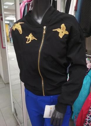 Куртка, бомбер, женская, короткая, лёгкая, весенняя, 48 размер