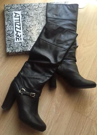 Женские кожаные сапоги осенние attizzare