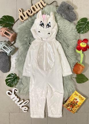 Теплый карнавальный костюм кигуруми слип единорог №30