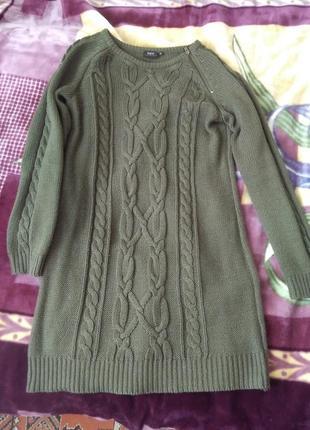 Свитер. туника. платье вязаное.