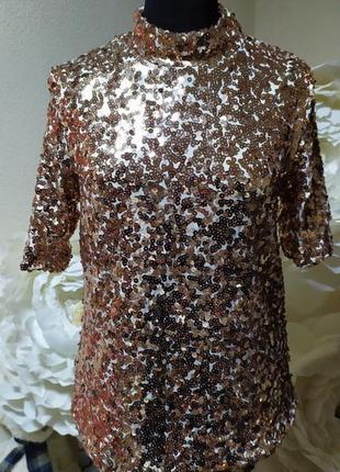 Блуза в паетки стрейчевая