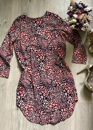 Яркое платье туника topshop