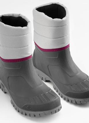 Женские походные ботинки теплые серые quechua