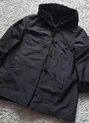 Оригинал.двухсторонняя,фирменная куртка-шубка fuchs schmitt