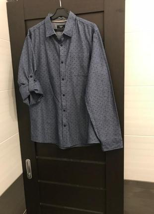 Синяя рубашка colin's