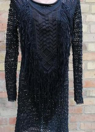Isabel marant платье сетка с бахромой