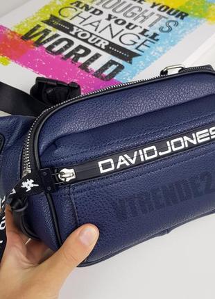 Хит продаж #6166-1 blue david jones стильная яркая вместительная бананка