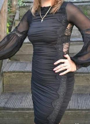 Вечернее платье, с гепюровой спинкой
