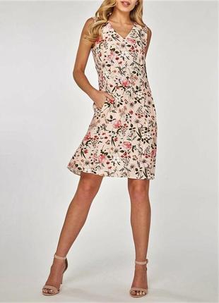 Невероятное😍 женственное  расклешенное платье миди с цветочным принтом и   v вырезом