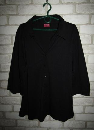Черная рубашка р-р 16-18 бренд biaggini