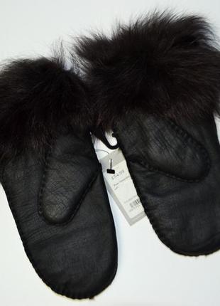 Новые варежки кожаные овчин в стиле toscana