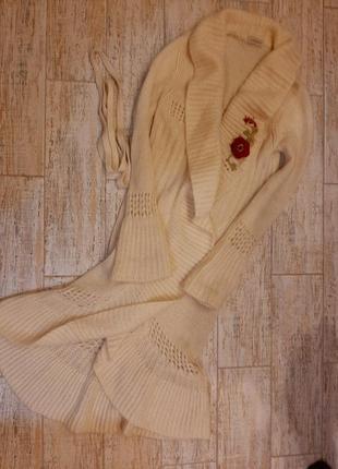 Вязаное пальто кардиган нереальної краси