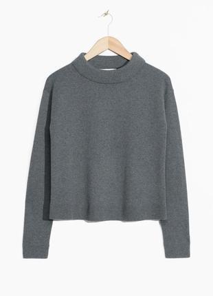 Серый шерстяной свитер other stories