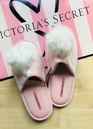 Розовые тапочки victoria's secret оригинал1 фото
