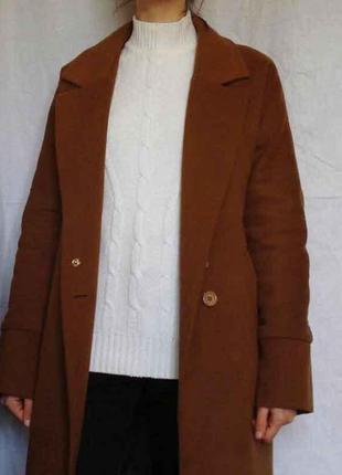 Винтаж винтажный теплый зимний свитер светр джемпер гольф с горлом оверсайз кофта в косы