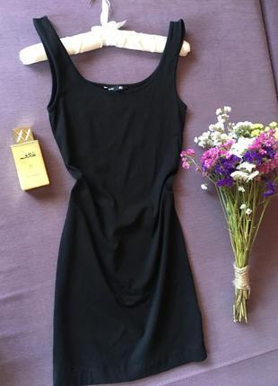 Базовый черный сарафан по фигуре h&m basic в идеале