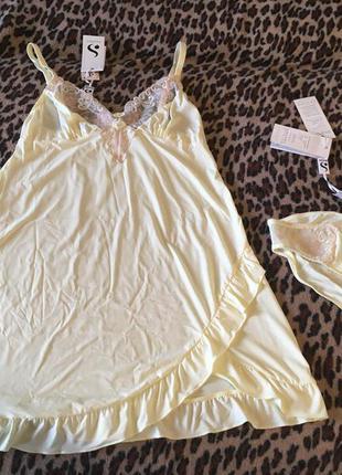 Шикарний комплект: нічна сорочка (ночнушка) і трусики silenza