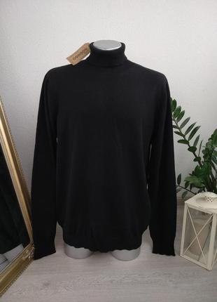 Новый bonobo jeans свитер натуральный шерстяной батал черный джемпер зимний с горлом